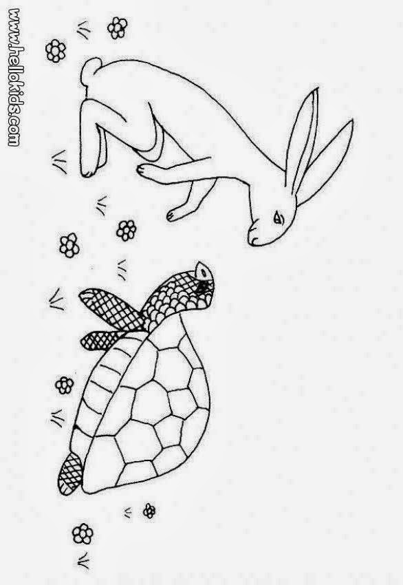 Rules of the Jungle: Tortoise Picture to Color