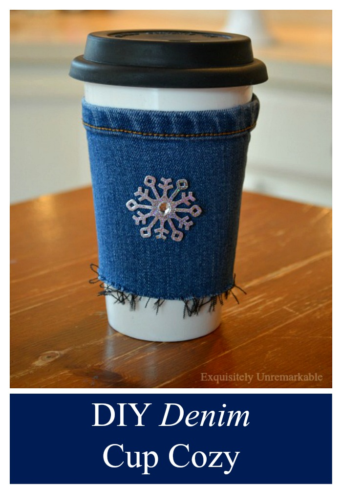 Denim Cup Cozy