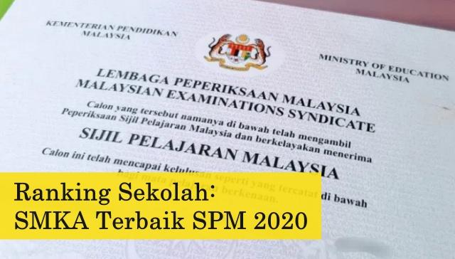 ranking SMKA terbaik SPM