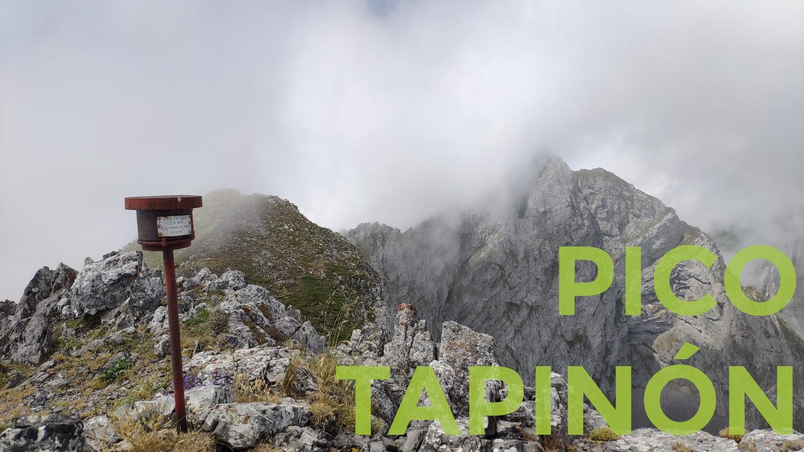 Buzón de cumbre del Pico Tapinón
