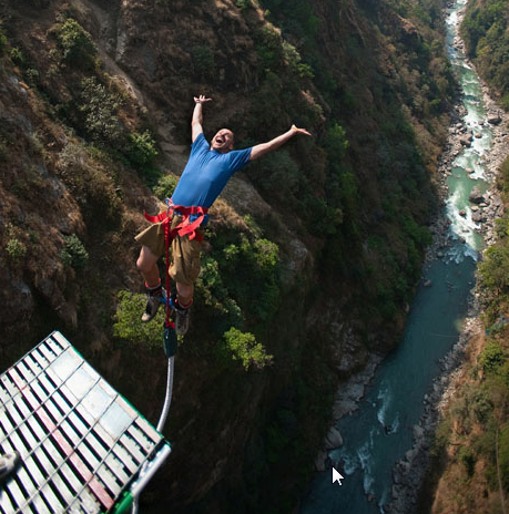 the experience of jumping upside down to see the sky