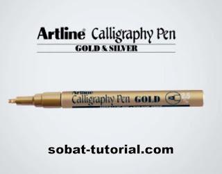 Pulpen Kaligrafi Gold 2.5mm