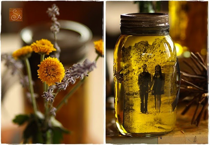 DIY: vintage pictures and mason jars