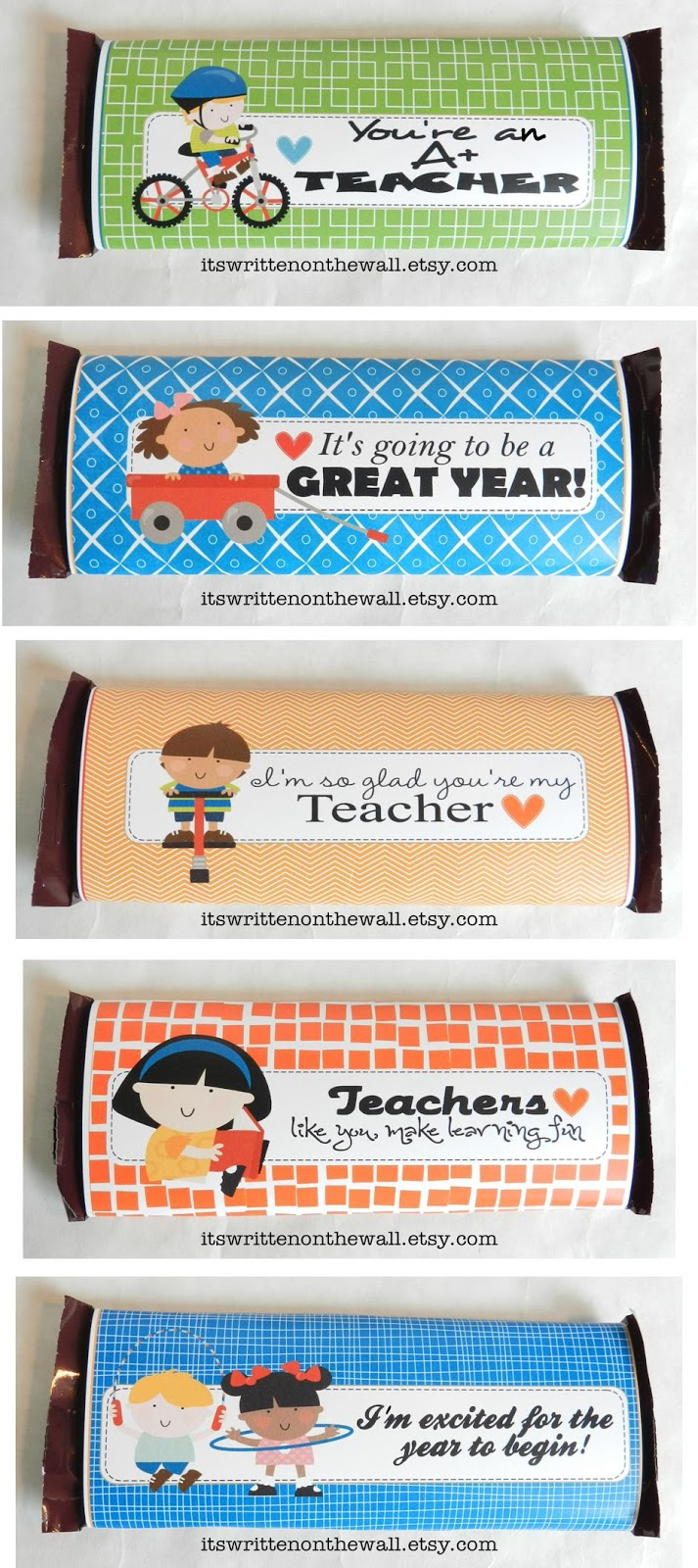 It's Written on the Wall: 10 Teacher Appreciation Gifts-Hershey Candy Bar Wraps-Excellent Gift ...