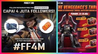 [TERBARU] Ada 3 Bocoran Kode Redeem Free Fire FF4M, Sisa 5 Karakter, Hadiah Incubator Voucher