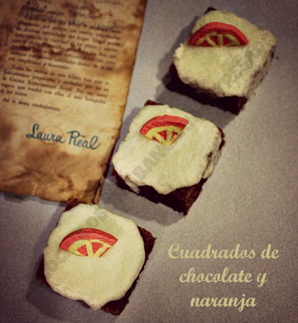 CUADRADOS DE CHOCOLATE Y NARANJA