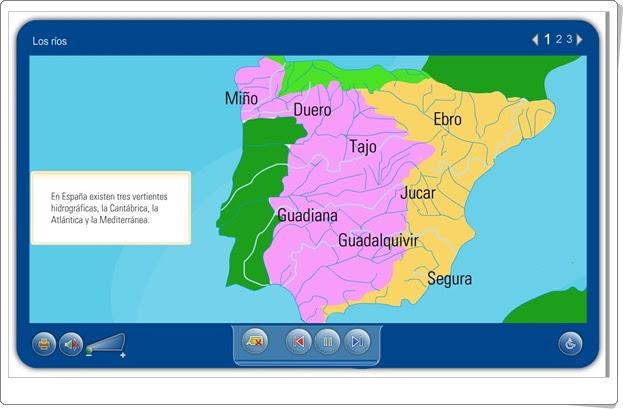 Los ríos (Aplicación interactiva de Ciencias Sociales de Primaria)