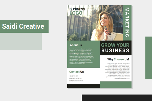 Marketing Business Agent Flyer Template Free Download on Word File