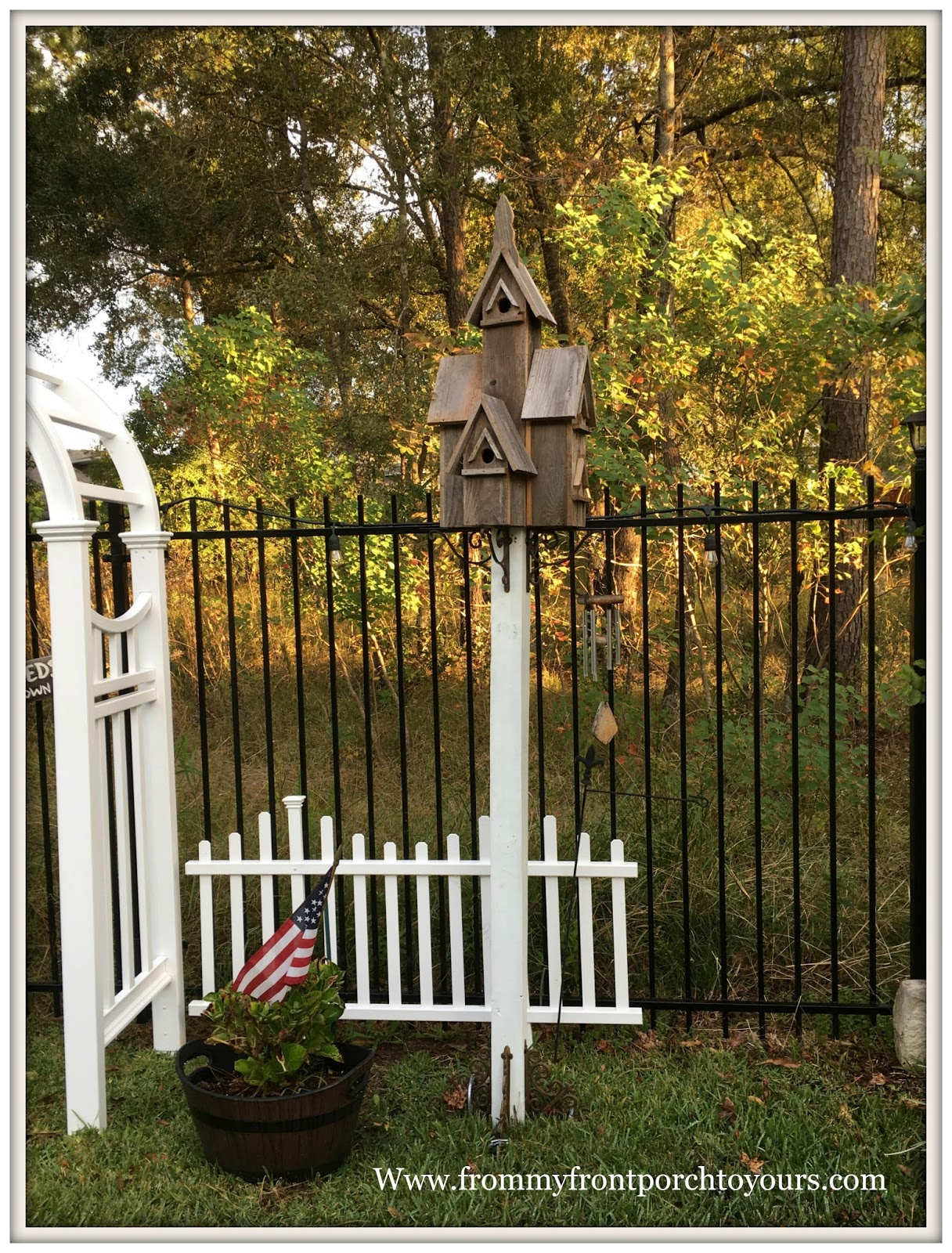 from my front porch to yours recycled wood birdhouse u0026 diy stand