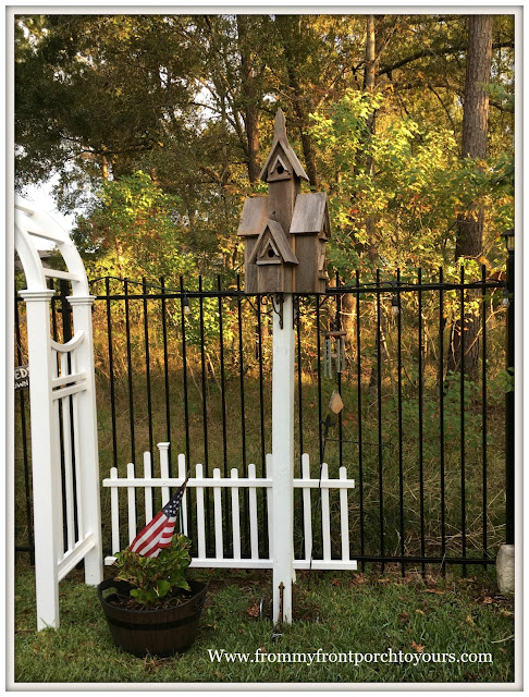 Recycled Wood Birdhouse-DIY Stand-Farmhouse Style-Backyard Landscape-Cottage Style-From My Front Porch To Yours