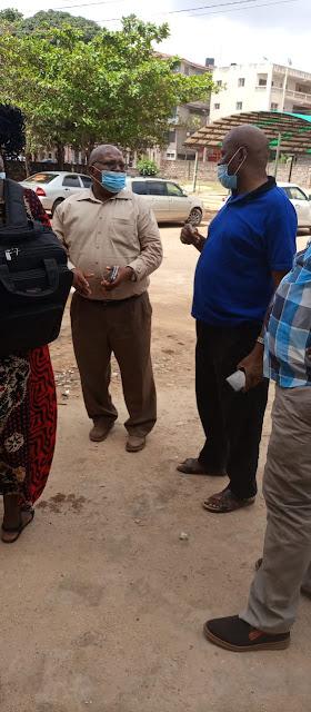 Chief Officer Samuel Nzai at Tawfiq hospital photo