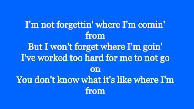 Where I'm From Song Lyrics