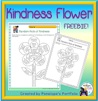 Character Education - Social Skills Kindness Flower Free