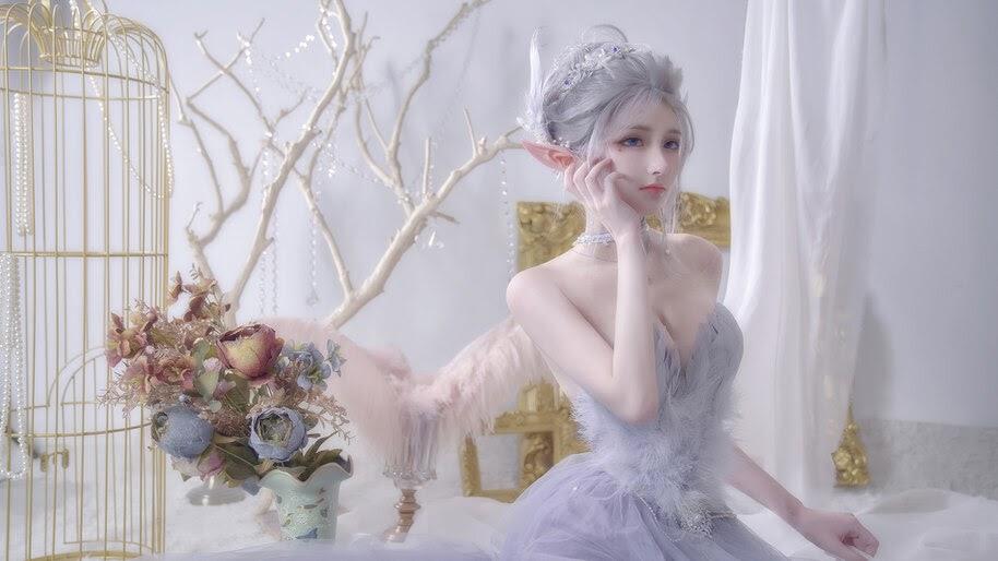 Beautiful, GhostBlade, Fantasy, Cosplay, Girl, 4K, #6.2636