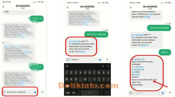 SMS Balasan Banking beli token