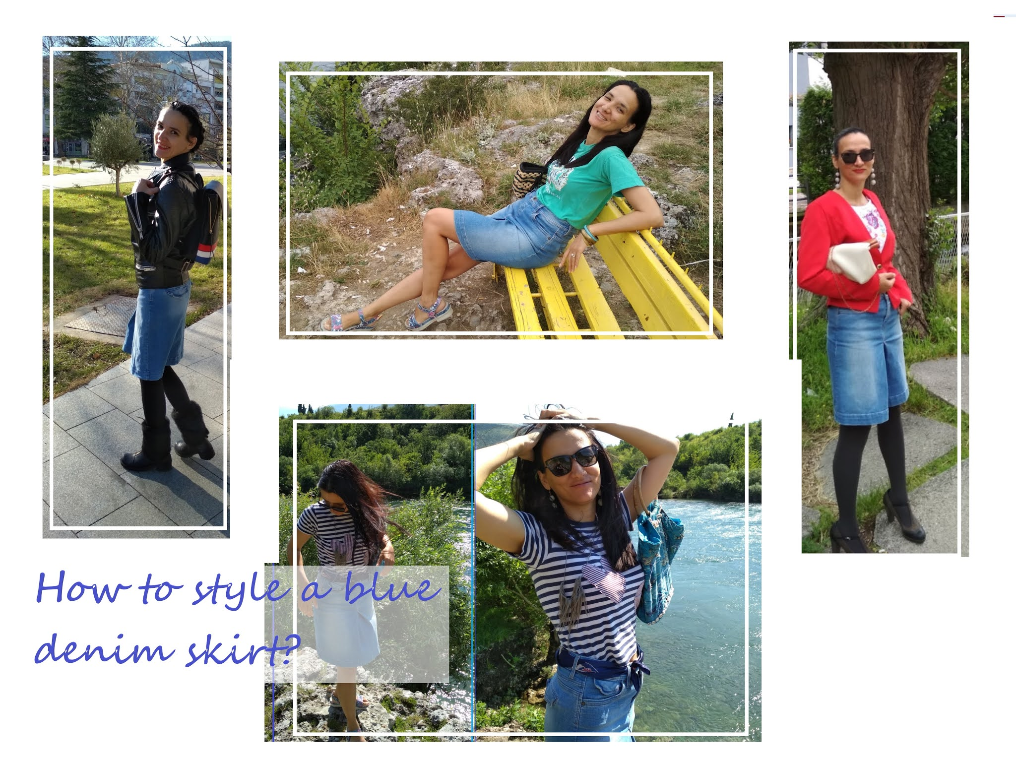 20 WAYS TO STYLE A BLUE DENIM SKIRT #modaodaradosti blog
