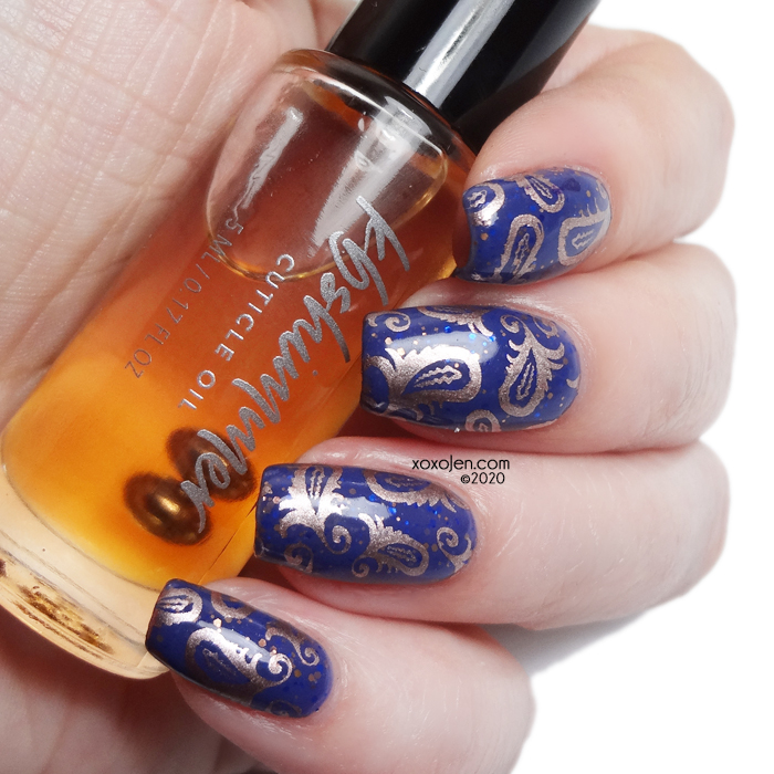 xoxoJen's swatch of KBShimmer Tri-Level cuticle oil