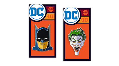 Batman & The Joker Golden Age DC Portrait Pins by Tom Whalen x Mondo