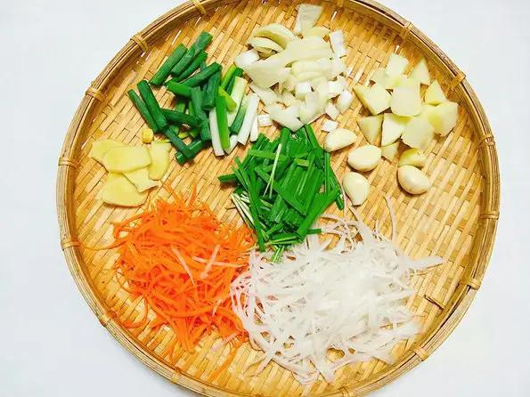 Củ cải cà rốt thái sợi