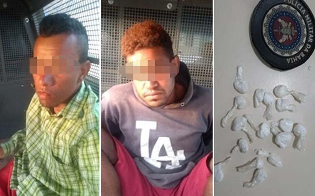 Presos com drogas em Miguel Calmon, homens são suspeitos de assassinato em Caém