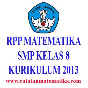 Perangkat (RPP) Matematika SMP Kelas 8
