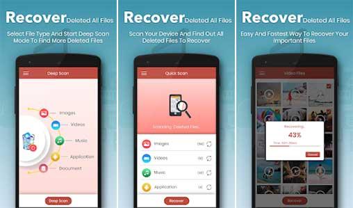 استرجع حذف جميع الملفات والصور وجهات الاتصال 1.0 Full Apk for Android