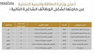وظائف وزارة الطاقة والبنية التحتية فى الامارات تخصصات مختلفة