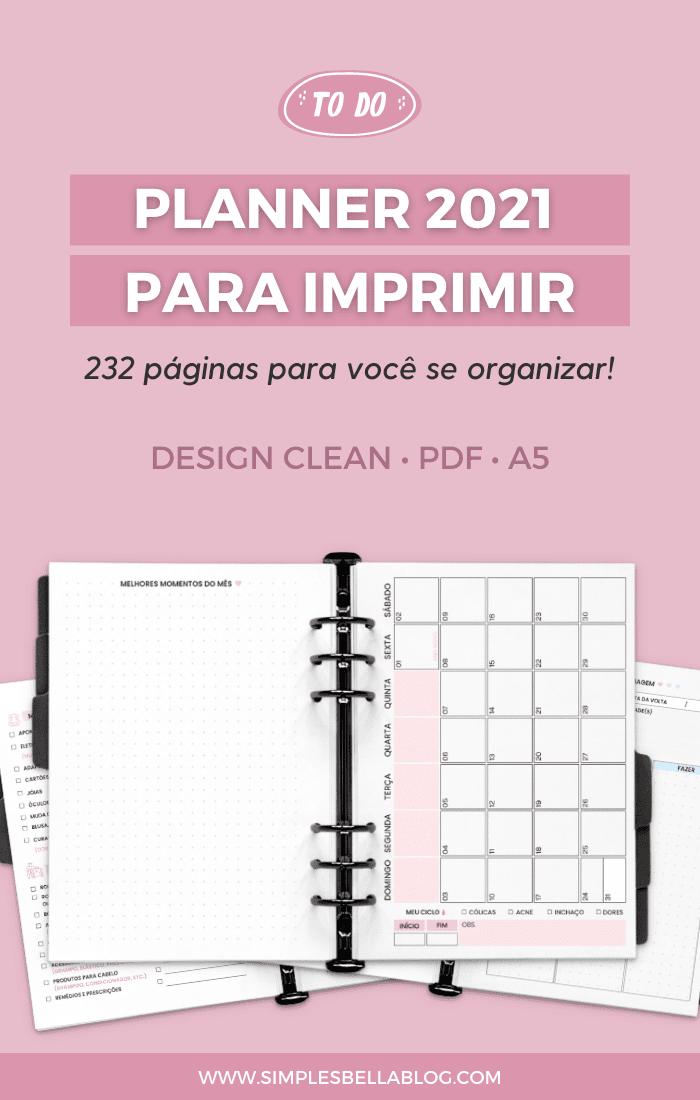 Planner 2021 para imprimir — Ufa, tá feito!