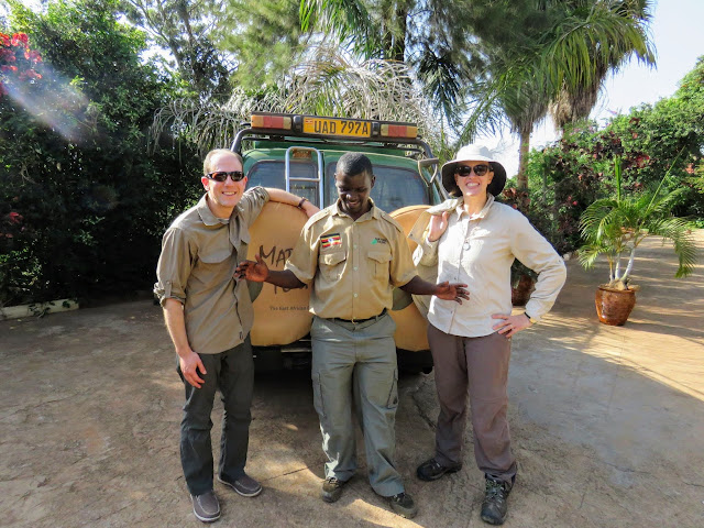 Posing with Geoffrey Katende from Matoke Tours in Uganda
