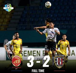 Sriwijaya FC Jungkalkan Bali United 3-2, PS Tira Tekuk Bhayangkara FC 2-0