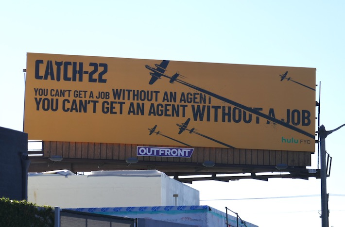 Catch-22 cant get agent without job Hulu FYC billboard