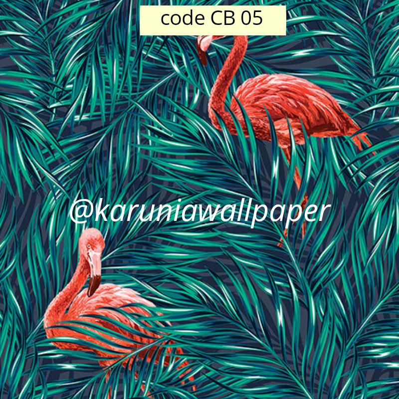jual wallpaper flamingo