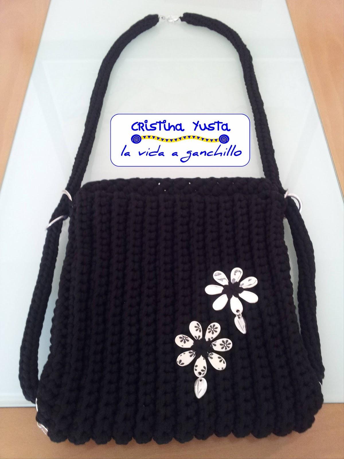 La vida a ganchillo bolso mochila de trapillo for Bolso crochet trapillo