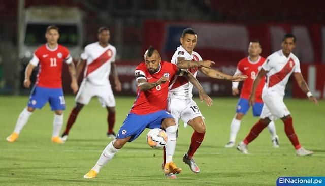Perú cayó 2-0 ante Chile