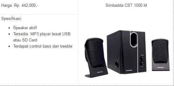 jual speaker simbadda second