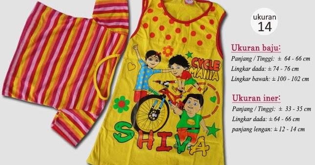 Baju anak karakter shiva plus inner vira usia 4 tahun Baju gamis anak usia 10 tahun