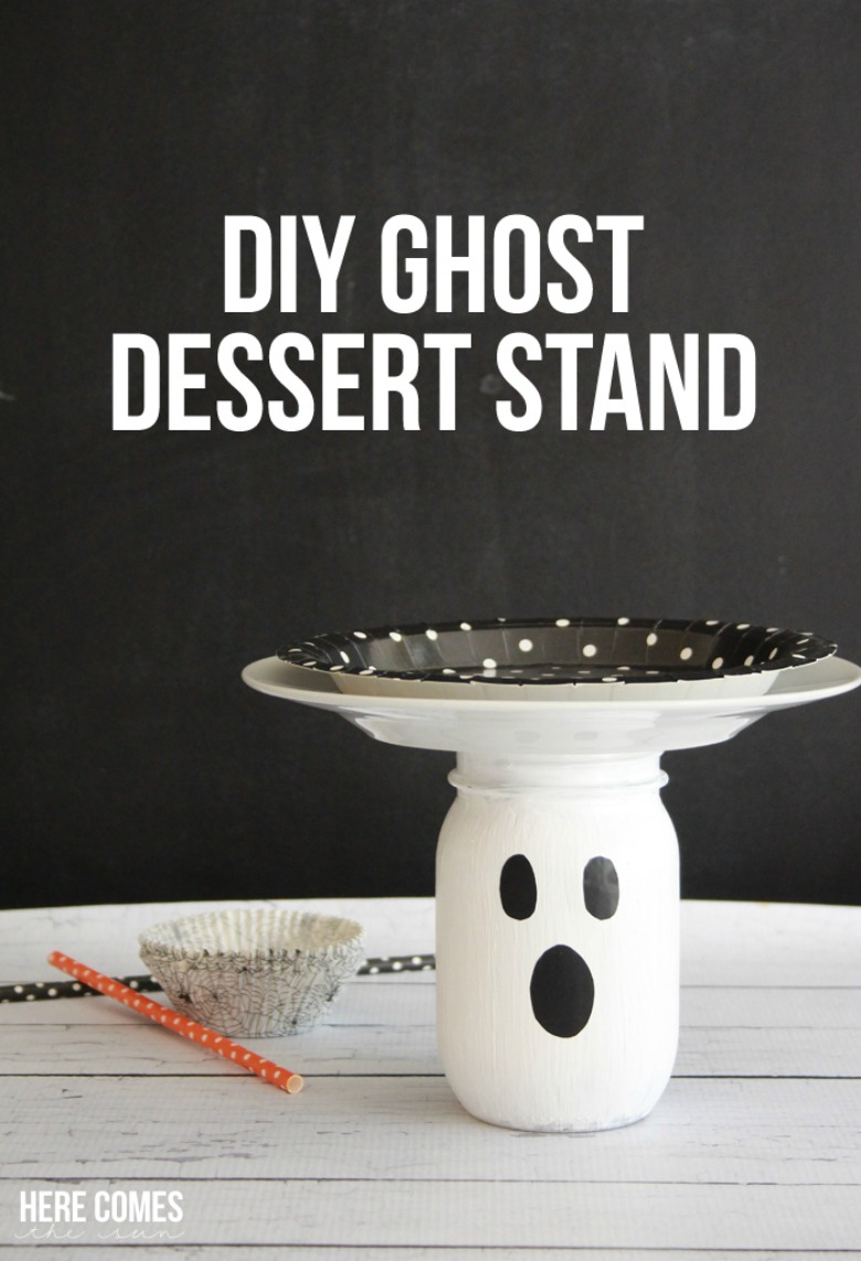 diy ghost cake stand by sugar bee crafts - Ghost crafts for kids