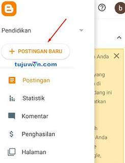 cara membuat blog blogger di hp android