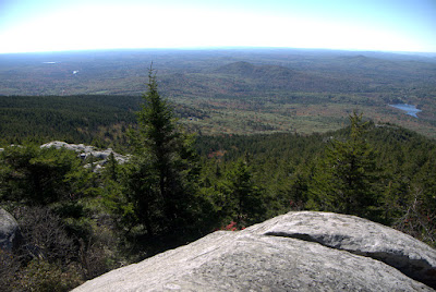 View of countryside far below including Gap Mountain and Little Monadnock