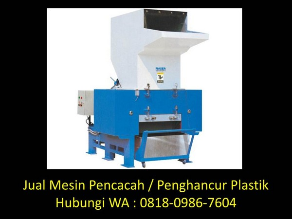 mesin pencacah limbah plastik di bandung