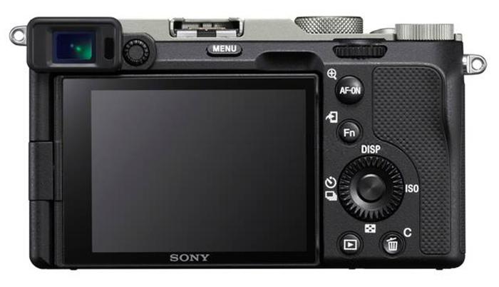 Sony A7C, серебристо-черного цвета