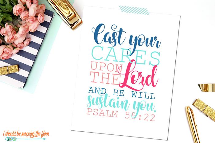 Psalm 55:22 Art