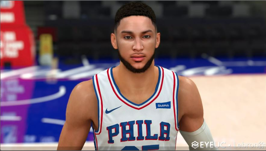 Ben Simmons Cyberface, Hair and Body Model by Lebron Xu [FOR 2K21]