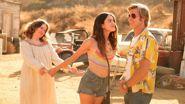 Brad Pitt Margaret Qualley Lena Dunham Quentin Tarantino   Once Upon A Time in… Hollywood