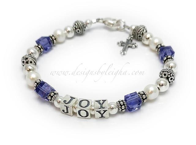 Joy Bracelet with an add-on charm: Fancy Cross Charm
