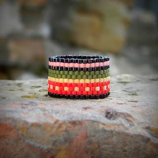 купить широкое кольцо ручной работы яркие кольца с орнментом