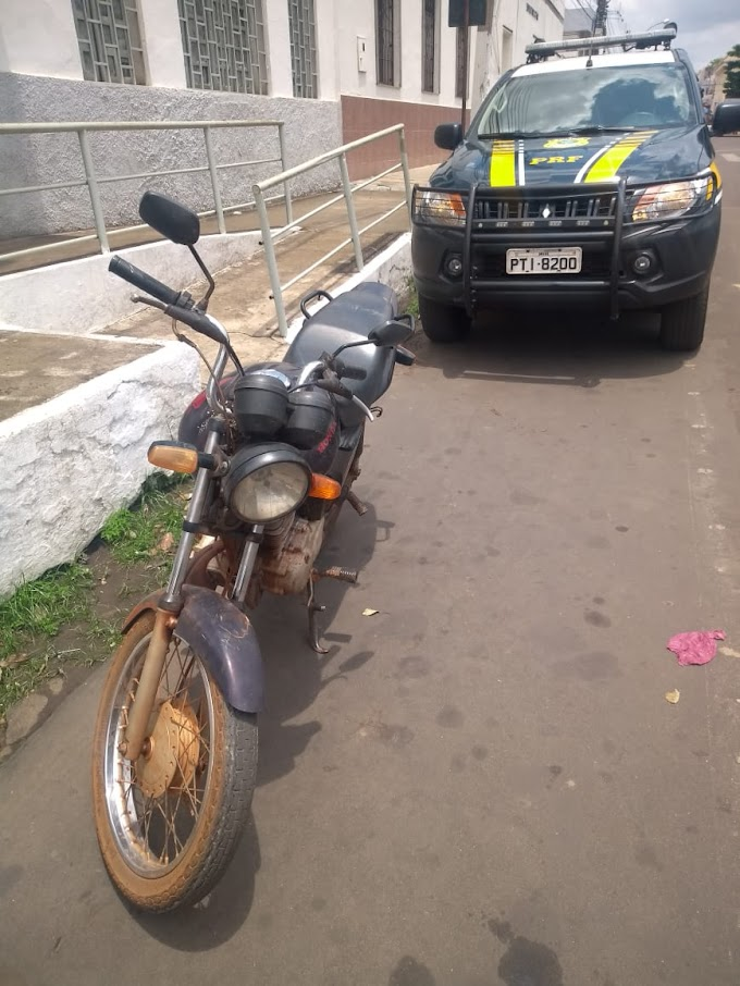 PRF recupera em Caxias/MA motocicleta furtada em em 2017, na capital do Piauí
