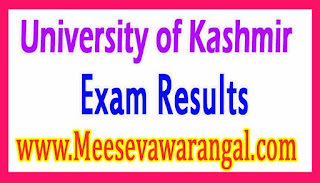 University of Kashmir DDE Mathematics IIIrd / IVth Sem Mar 2016 Exam Results