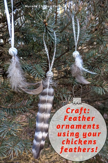 Fancy feather ornament craft tutorial