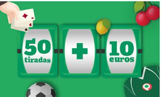 Bienvenido a Paf 50 tiradas y 10€ primer depósito